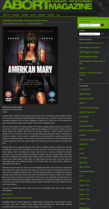 My review of a must have film for ABORT Magazine, American Mary
